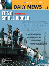 It's a Small World Cover Story for AFI Daily News - 2007